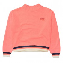 Boxy-Sweat COURAGE - Neon Peach