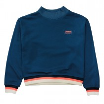 Boxy-Sweat COURAGE - Deep Petrol