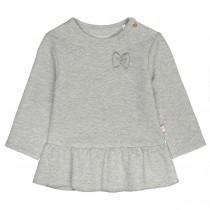 Tunika mit Schleifen-Applikation - Soft Grey Melange