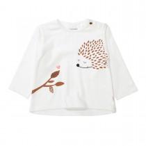 Langarmshirt mit Animalprint - Weiß