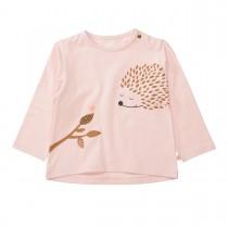 Langarmshirt mit Animalprint - Rose