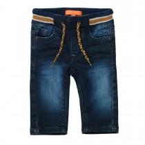 Baby-Jeans  - Dark Blue Denim mit Strickbündchen