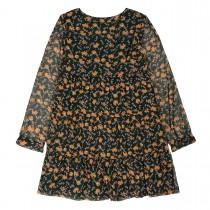 Kleid mit Blumen-Print - Dark Green