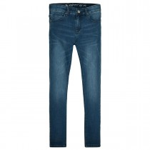 Mädchen High Waist Jeans Regular Fit  - Mid Blue Denim