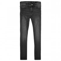 Mädchen High Waist Jeans Regular Fit - Black Denim