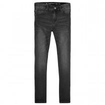 Mädchen High Waist Jeans Regular Fit  - Black Denim