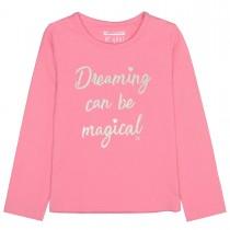 Langarmshirt  - Pink mit Wording