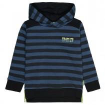 Hoodie  - Washed Blue im Streifen-Design