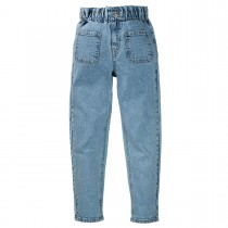 Denim-Paperbag - Mid Blue Denim
