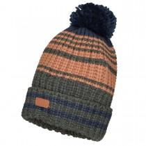 Mütze mit Bommel - Dark Anthra
