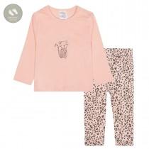 Pyjama LEO  - Blush mit Print