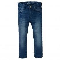 Skinny Jeans Regular Fit  - Mid Blue Denim mit verstellbarem Innenbund