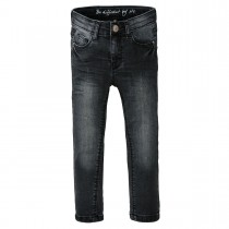 Skinny Jeans Regular Fit mit verstellbarem Innenbund - Black Denim
