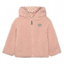 Plüschjacke  - Blush Rose mit Glitzer-Applikation