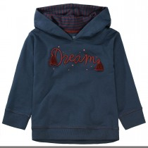 BASEFIELD Kapuzensweatshirt DREAM mit Wording - Deep Blue