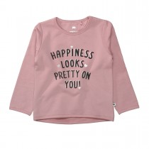 BASEFIELD Sweatshirt HAPPINESS  - Dusty Rose