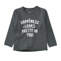 BASEFIELD Sweatshirt HAPPINESS  - Anthra Melange