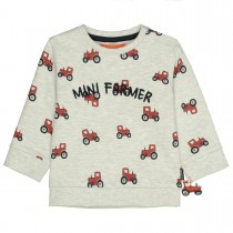 Sweatshirt MINI FARMER - Light Creme Melange