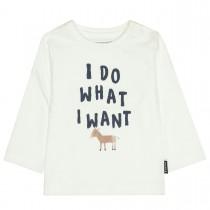 Langarmshirt mit Print - Offwhite