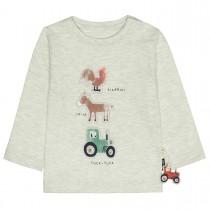 Langarmshirt mit Tier-Print - Light Cream