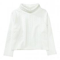 Sweatshirt mit Struktur-Muster  - Offwhite