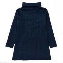 Kleid mit Struktur-Muster  - Deep Navy