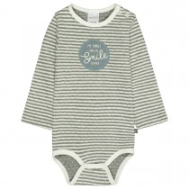 ORGANIC COTTON Langarmbody - Dusty Grey Melange