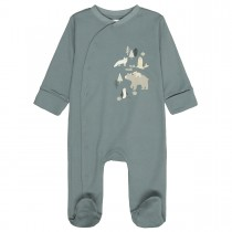ORGANIC COTTON Baby Schlafanzug - Dusty Petrol