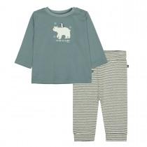 ORGANIC COTTON Pyjama mit Eisbär Print - Dark Petrol