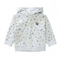 Sweatjacke Allover Print - Soft Grey Melange