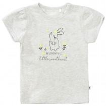 T-Shirt mit Hasen-Stitching auf der Front - Soft Grey