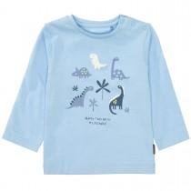 Langarmshirt mit Dino-Prints auf der Vorderseite - Sky