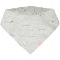 ORGANIC COTTON Tuch mit Allover-Print - Stone Melange