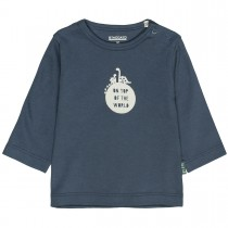 ORGANIC COTTON Langarmshirt TOP OF THE WORLD - Washed Blue