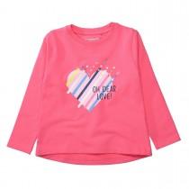 Sweatshirt mit Herz-Print auf der Vorderseite - Pink