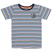 Streifen-T-Shirt GOAL! - White Streifen