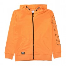Kapuzen Sweatjacke - Bright Orange