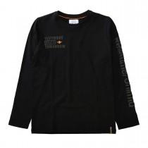 Langarmshirt mit Print - Black