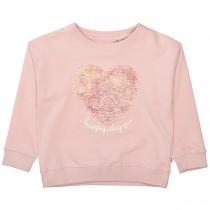 BASEFIELD Sweatshirt HAPPY DAY - Rosa
