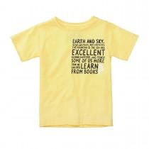 BASEFIELD T-Shirt mit Rollkanten - Yellow