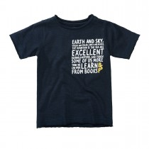 BASEFIELD T-Shirt mit Rollkanten - Navy