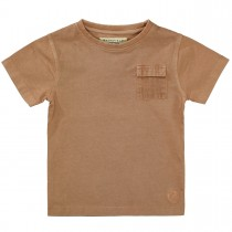 BASEFIELD T-Shirt mit Brusttasche - Brown