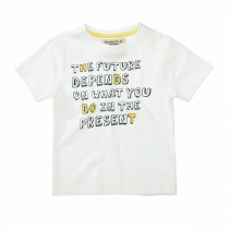 BASEFIELD T-Shirt mit Wording-Print - Offwhite