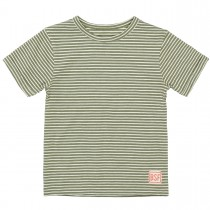 BASEFIELD T-Shirt mit Logo-Patch am Saum - Washed Olive
