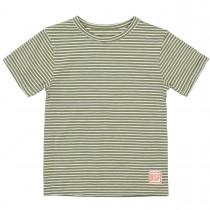BASEFIELD T-Shirt - Olive Streifen