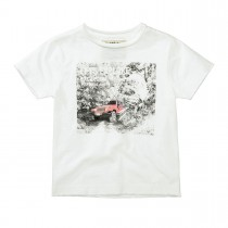BASEFIELD T-Shirt EXPLORE - Offwhite