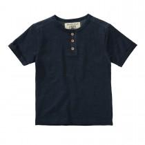 BASEFIELD T-Shirt mit Knopfleiste - Navy