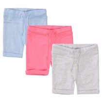 ORGANIC COTTON Baby Sweatshorts 3er-Pack - Bunt