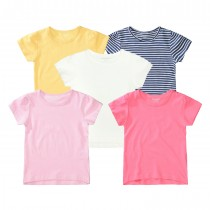 ORGANIC COTTON T-Shirt 5er-Pack - Bunt