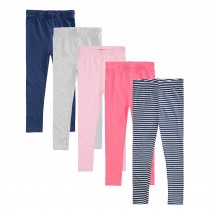 ORGANIC COTTON Leggings 5er-Pack - Bunt